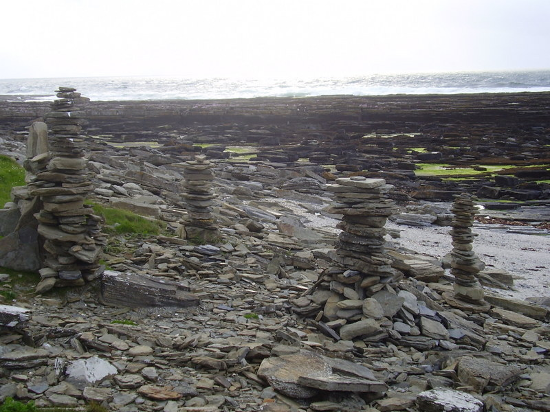 Cairns on Brims Ness