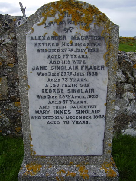 Alexander MacIntosh and Jane Sinclair Fraser
