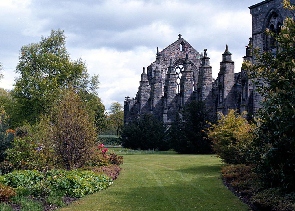 Holyrood Palace Gardens The Palace gardens along the